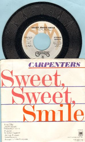 Carpenters - Sweet Sweet Smile/I Have You (with picture sleeve) - M10/EX8 - 45 rpm Records