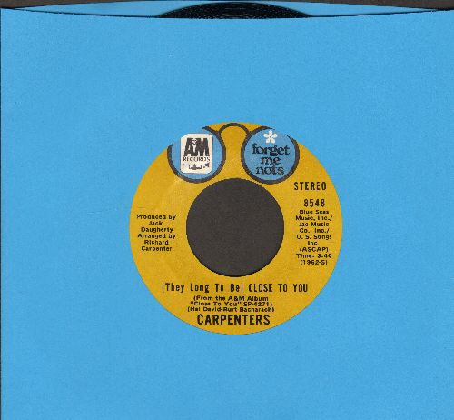 Carpenters - Ticket To Ride/(They Long To Be) Close To You (double-hit re-issue) - VG7/ - 45 rpm Records