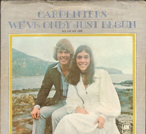 Carpenters - We've Only Just Begun/All Of My Life (with picture sleeve) - NM9/EX8 - 45 rpm Records