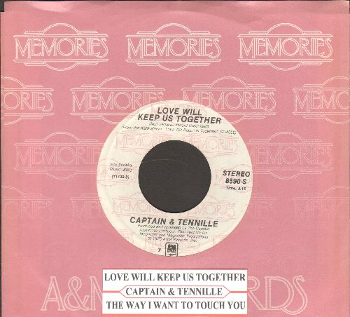 Captain & Tennille - Love Will Keep Us Together/The Way I Want To Touch You (double-hit re-issue with A&M company sleeve and juke box label) - NM9/ - 45 rpm Records