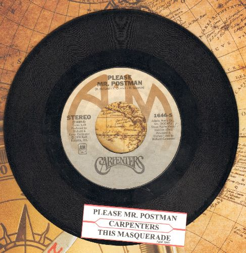Carpenters - Please Mr. Postman/This Masquarade (with A&M company sleeve and juke box label) - EX8/ - 45 rpm Records