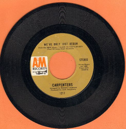 Carpenters - We've Only Just Begun/All Of My Life  - VG6/ - 45 rpm Records