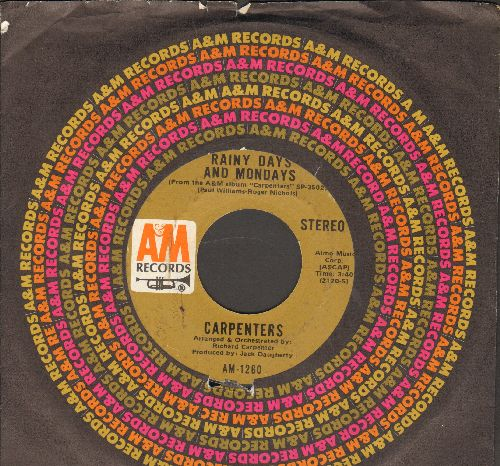 Carpenters - Rainy Days And Mondays/Saturday (with A&M company sleeve) - VG7/ - 45 rpm Records