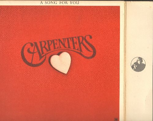 Carpenters - A Song For You: Top Of The World, Goodbye To Love, Bless The Beasts And The Children (Vinyl STEREO LP record) - EX8/EX8 - LP Records