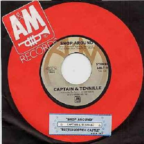 Captain & Tennille - Shop Around/Butterscotch Castle (with juke box label) - VG7/ - 45 rpm Records
