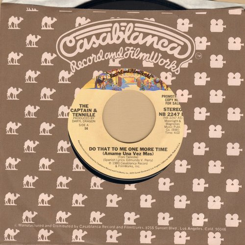 Captain & Tennille - Do That To Me One More Time/Deep In The Dark - NM9/ - 45 rpm Records