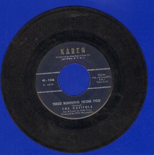 Capitols - We Got A Thing That's In The Groove/Tired Running From You - VG7/ - 45 rpm Records
