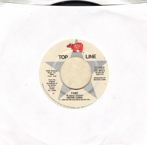 Cara, Irene - Fame/Out Here On My Own (early double-hit re-issue) - M10/ - 45 rpm Records