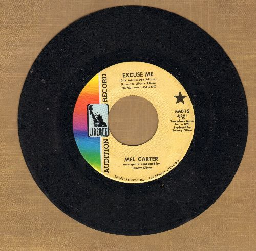Carter, Mel - Excuse Me/The Other Woman (DJ advance pressing) - EX8/ - 45 rpm Records