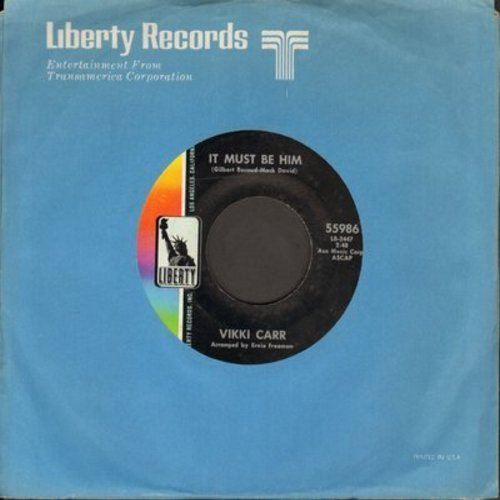 Carr, Vikki - It Must Be Him/That's All (with company sleeve) - EX8/ - 45 rpm Records