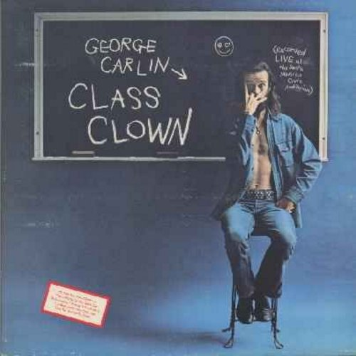 Carlin, George - Class Clown (does this surprise anyone?) (vinyl LP record, gate-fold cover) - EX8/EX8 - LP Records
