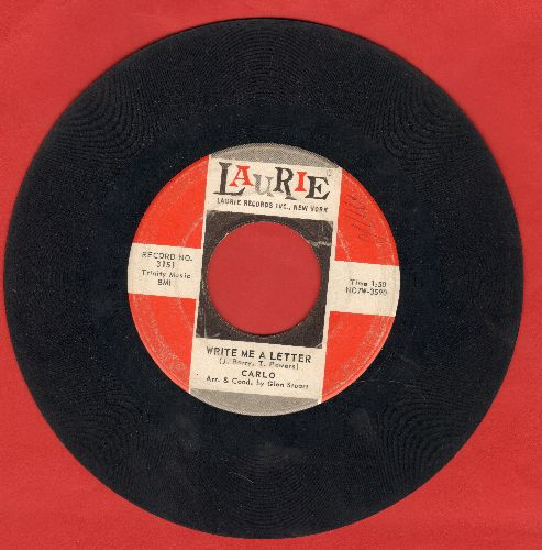 Carlo - Write Me A Letter/Baby Doll (FANTASTIC flip-side!) (wol) - VG6/ - 45 rpm Records