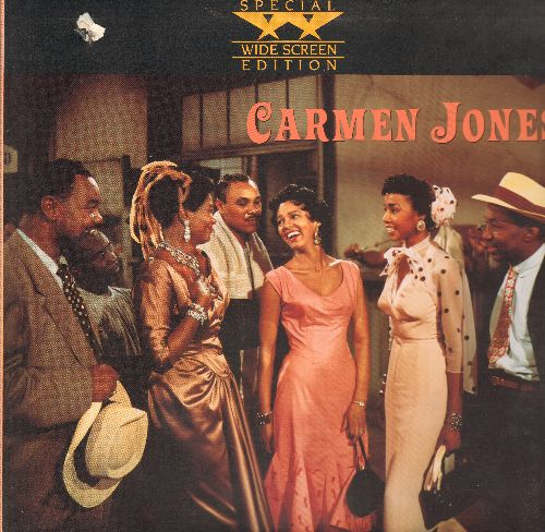 Carmen Jones - Carmen Jones - LASERDISC version of the Classic Jazz Musical starringOscar Nominee Dorothy Dandridge and Harry Belafonte, gate-fold cover, bb in upper left corner) - EX8/EX8 - LaserDiscs