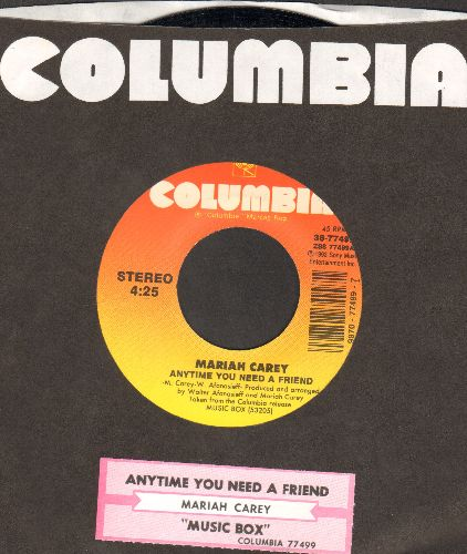 Carey, Mariah - Anytime You Need A Friend/Music Box (with juke box label and Columbia company sleeve) - NM9/ - 45 rpm Records