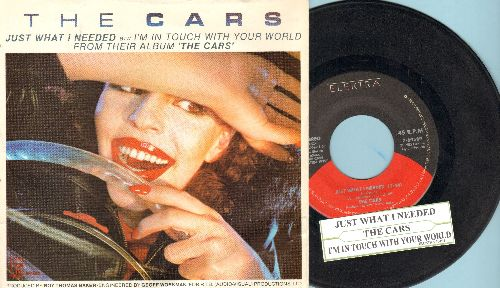 Cars - Just What I Needed/I'm In Touch With Your World (with RARE picture sleeve and juke box label) - EX8/EX8 - 45 rpm Records