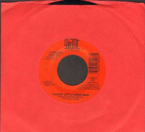 Carter, Carlene - Rockin' Little Christmas/The Working Elf Blues - NM9/ - 45 rpm Records