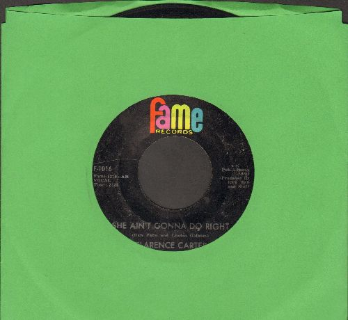 Carter, Clarence - She Ain't Gonna Do Right/The Road Of Love - EX8/ - 45 rpm Records
