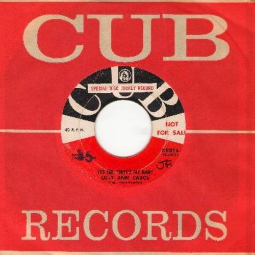 Carol, Lilly Ann - Yes Sir, That's My Baby (RARE 50s R&B version of Standard)/Come Back To Sorreento (DJ advance copy with vintage CUB company sleeve) - VG7/ - 45 rpm Records