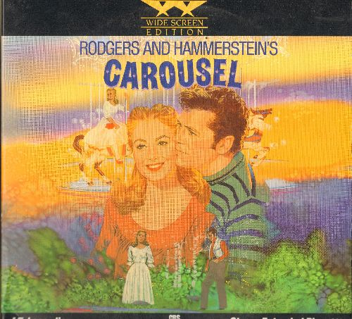 Carousel - Carousel - The Rosgers & Hammerstein Broadway Classic starring Shirley Jones and Gordon McRae on 2 LASERDISCS, WIDE-SCREEN Edition, gate-fold cover. - NM9/EX8 - LaserDiscs