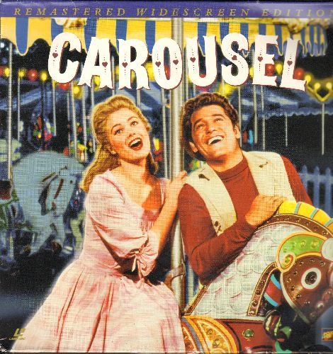 Carousel - Carousel - The Rosgers & Hammerstein Broadway Classic starring Shirley Jones and Gordon McRae on 2 LASERDISCS, Re-Mastered WIDE-SCREEN Edition, gate-fold cover. - NM9/NM9 - LaserDiscs