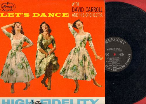 Carroll, David & His Orchestra - Let's Dance: The Glow Worm, The Trouble With Harry, Cuddle Up A Little Closer, Armen's Theme, Dixie Dawn Patrol (Vinyl STEREO LP record) - NM9/NM9 - LP Records