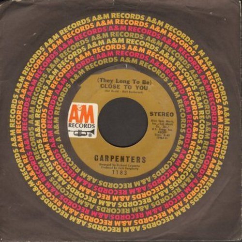 Carpenters - Close To You/I Kept On Loving You - EX8/ - 45 rpm Records