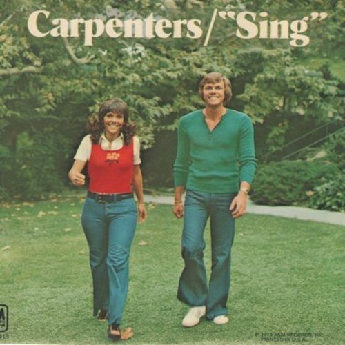 Carpenters - Sing/Drucilla Penny (with picture sleeve) - NM9/NM9 - 45 rpm Records