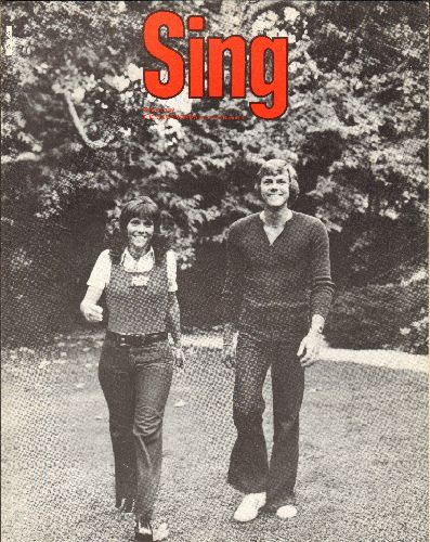 Carpenters - Sing - SHEET MUSIC for the Carpenters hit (NICE cover shot of the legendary singing duo!) - NM9/ - Sheet Music