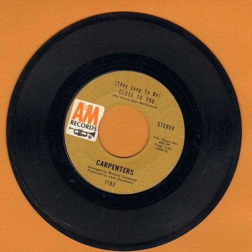 Carpenters - Close To You/I Kept On Loving You - VG7/ - 45 rpm Records
