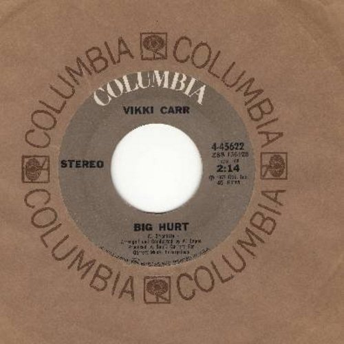 Carr, Vikki - Cabaret/Big Hurt (FANTASTIC cover versions of big contemporary hits, with Columbia company sleeve) - NM9/ - 45 rpm Records