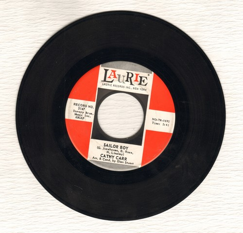Carr, Cathy - Sailor Boy/The Next Time The Band Plays A Waltz  - EX8/ - 45 rpm Records