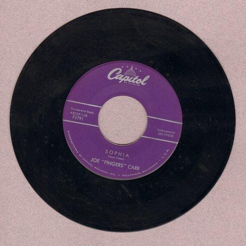 Carr, Joe Fingers - Sophia/Sea Breeze  - EX8/ - 45 rpm Records