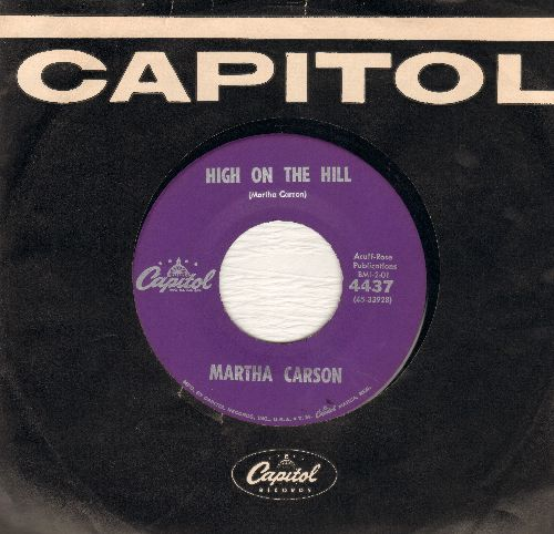 Cason, Martha - High On The Hill/Everything's Alright (with vintage Capitol company sleeve) - NM9/ - 45 rpm Records