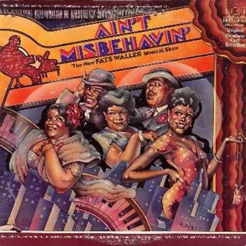 Carter, Nell, Andre DeShields, Armelia McQueen, Ken Page, Charlaine Woodard, others - Ain't Misbehavin' -The New Fats Waller Musical Show - 2 vinyl LP record set - Original Broadways Cast Recording - NM9/EX8 - LP Records