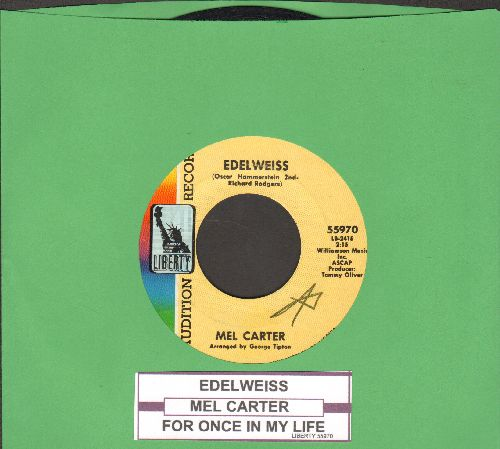 Carter, Mel - Edelweiss/For Once In My Life (DJ advance pressing with juke box label) - EX8/ - 45 rpm Records