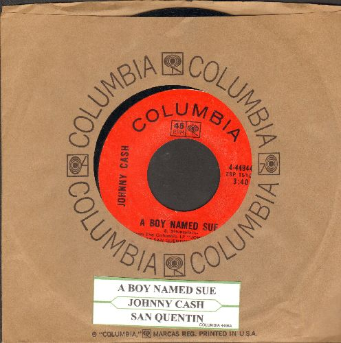 Cash, Johnny - A Boy Named Sue/San Quentin  (with juke box label and Columbia company sleeve) - EX8/ - 45 rpm Records