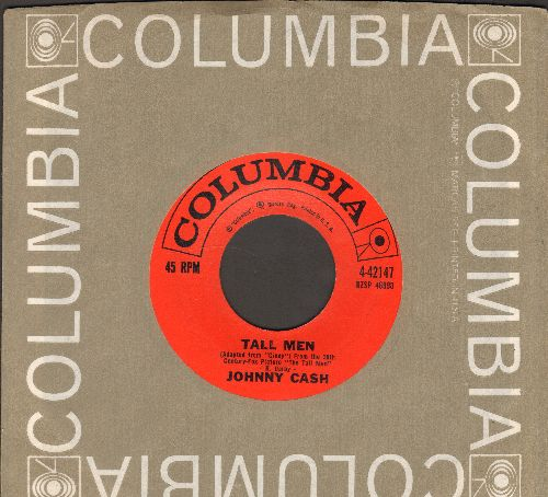 Cash, Johnny - Tall Men/Tennessee Flat-Top Box (with vintage Columbia company sleeve) - NM9/ - 45 rpm Records