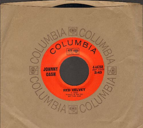 Cash, Johnny - Red Velvet/The Wind Changes (with Columbia company sleeve) - NM9/ - 45 rpm Records
