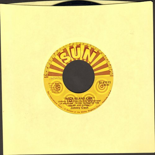 Cash, Johnny - Rock Island Line/Next In Line (authentic looking re-issue) - VG7/ - 45 rpm Records