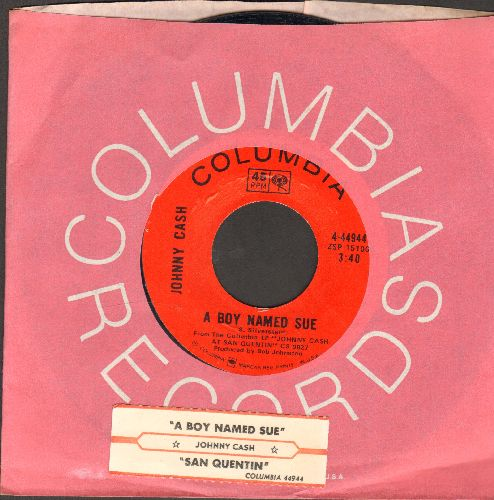 Cash, Johnny - A Boy Named Sue/San Quentin (with Columbia company sleeve) - EX8/ - 45 rpm Records