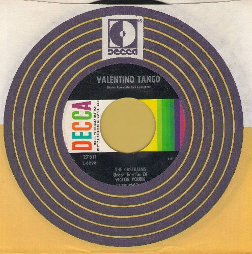 Castilians, directed by Victor Young - Valentino Tango/El Choclo  (with vintage Decca company sleeve) - EX8/ - 45 rpm Records