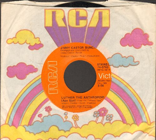 Castor, Jimmy Bunch - Luther The Anthropoid (Ape Man)/Party Life (with RCA company sleeve) - NM9/ - 45 rpm Records