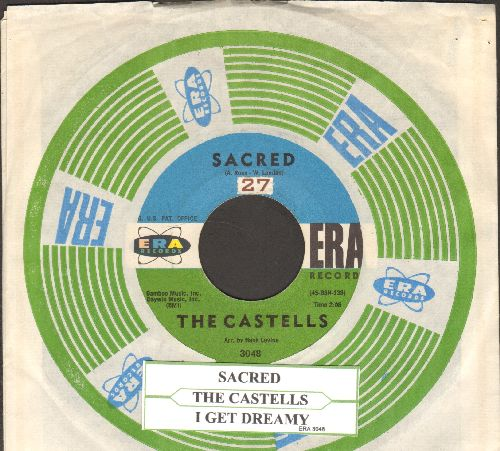 Castells - Sacred/I Get Dreamy (with juke box label and RARE vintage Era company sleeve) - EX8/ - 45 rpm Records