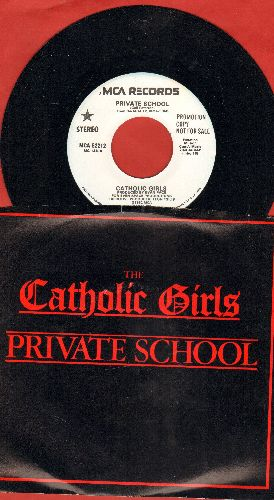 Catholic Girls - Private School (RARE double-A-sided DJ advance pressing with picture sleeve) - M10/NM9 - 45 rpm Records
