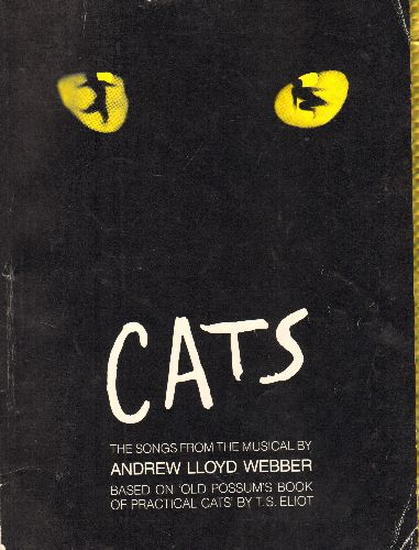 Webber, Andrew Lloyd - Cats - The songs from the Broadway Musical by Andrew Lloys Webber in SHEET MUSIC book of more than 100 pages. - EX8/ - Sheet Music