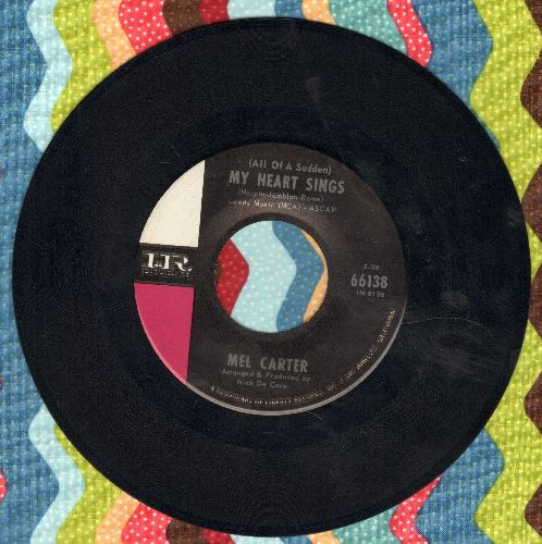 Carter, Mel - (All Of A Sudden) My Heart Sings/When I Hold The Hand Of The One I Love (bb) - NM9/ - 45 rpm Records