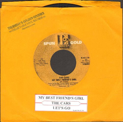 Cars - My Best Friend's Girl/Let's Go (doublle-hit re-issue with juke box label) - EX8/ - 45 rpm Records