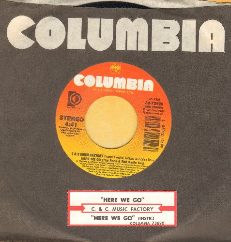 C & C Music Factory - Here We Go (The Rock & Roll Radio Mix)/Here We Go (The R&B Radio Mix) (PARTY FAVORITE!)(with Columbia company sleeve and juke box label) - NM9/ - 45 rpm Records
