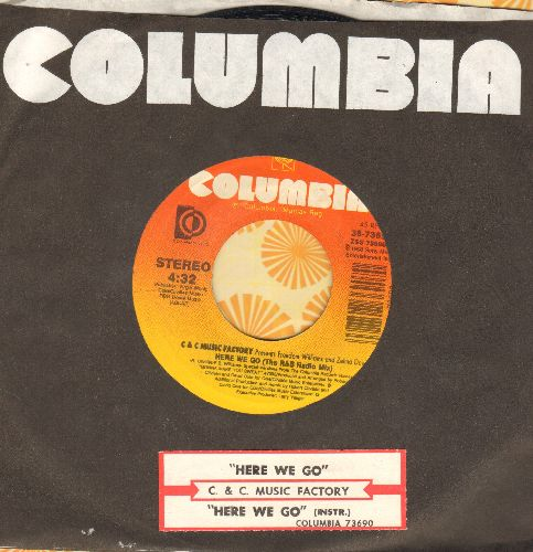 C & C Music Factory - Here We Go (the Rock & Roll Radio Mix)/Here We Go (The R&B Radio Mix) (PARTY FAVORITE!) - VG7/ - 45 rpm Records