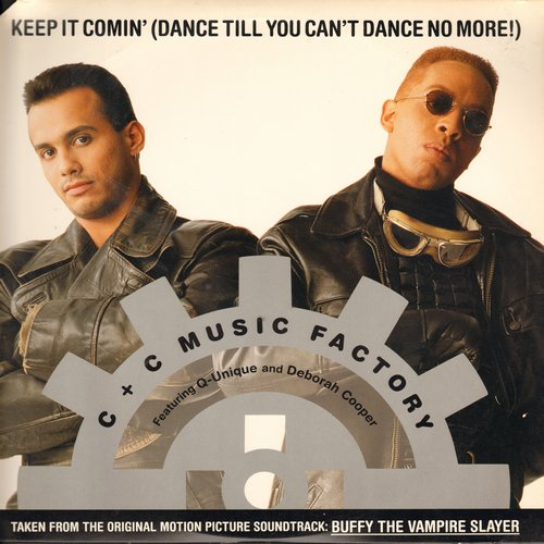 C & C Music Factory - Keep It Comin' (Dance Till You Can't Dance No More!) (10:49 minutes Extended Dance Club Version/4:04 minutes Acapella Version/5:13 C&C Club Mix)/3:50 Staright Outa Bronx Mix (12 inch vinyl Maxi Single with picture cover) - NM9/EX8 -